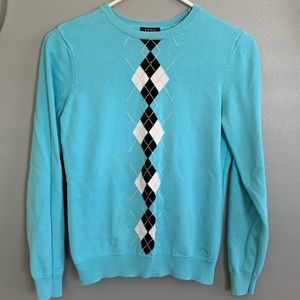Izod argyle sweater, S